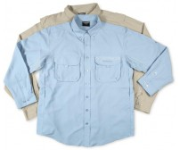Áo Shimano Vented Guide Shirt Blue, size M (40-41), NWOT